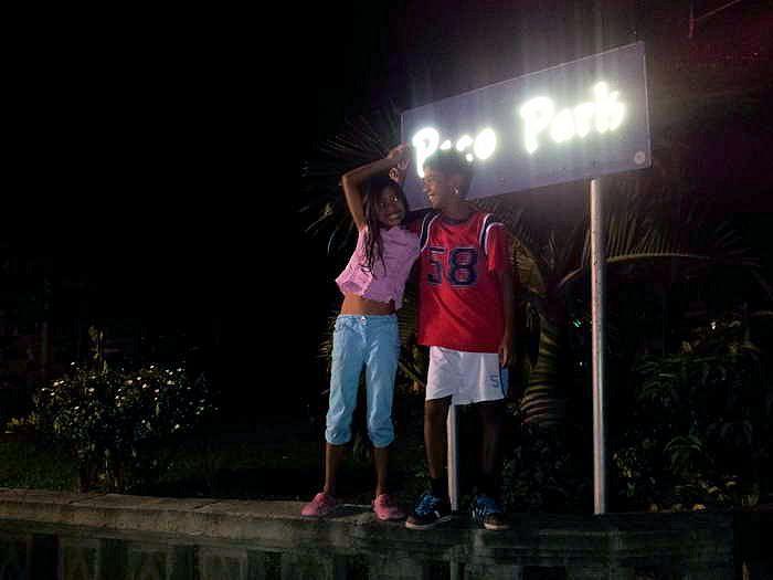 ausgang in den ruhigen paco park inmitten von manila