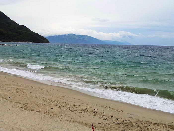 strand, waser, sand, wind